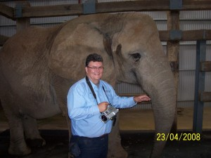 Mal West of Brisbane Australia with an elephant